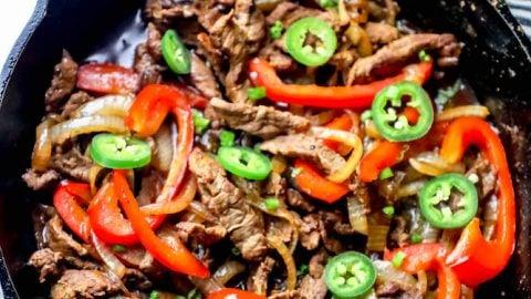 One Pot Steak Fajitas Recipe