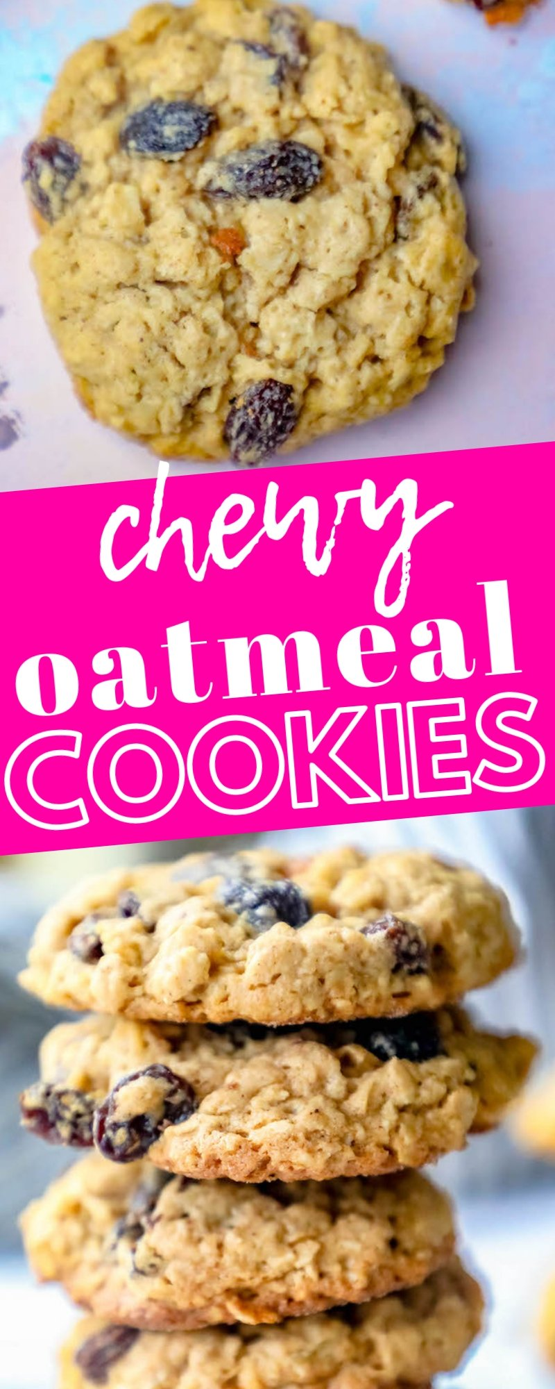 The Best Chewy Oatmeal Raisin Cookies Recipe Sweet Cs