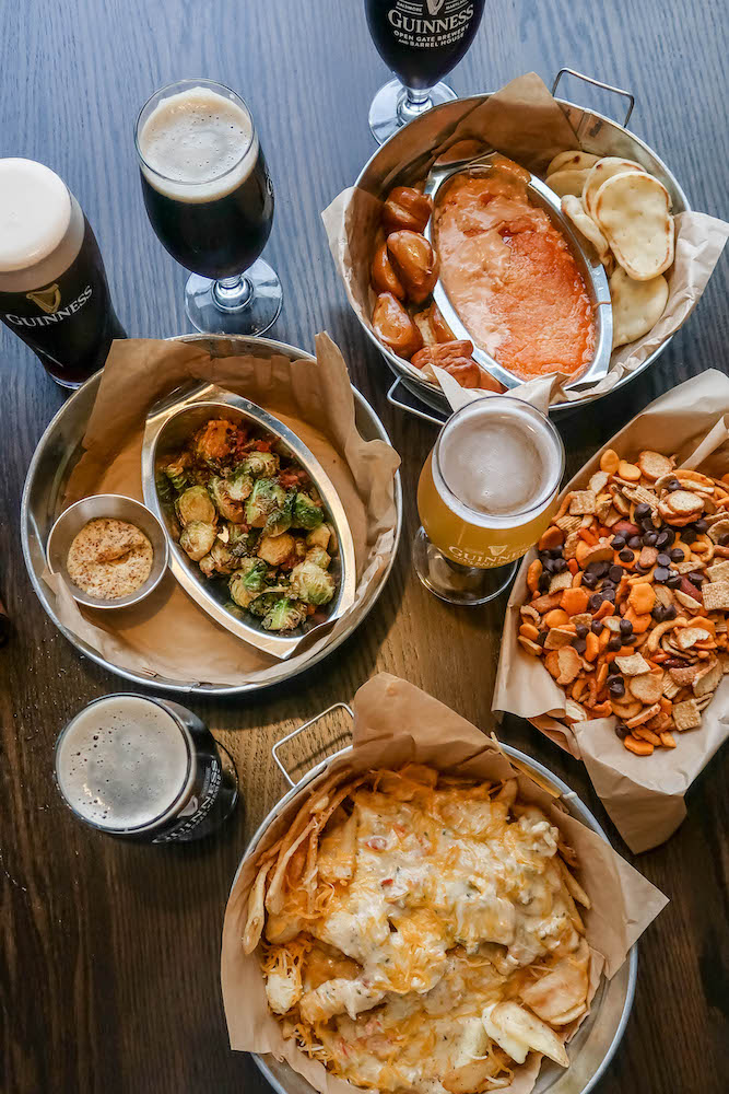 picture of appetizers on a table at Guinness Brewery Maryland