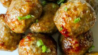 Easy Air Fried Meatballs Recipe