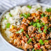 Keto Teriyaki Turkey Rice Bowl Recipe