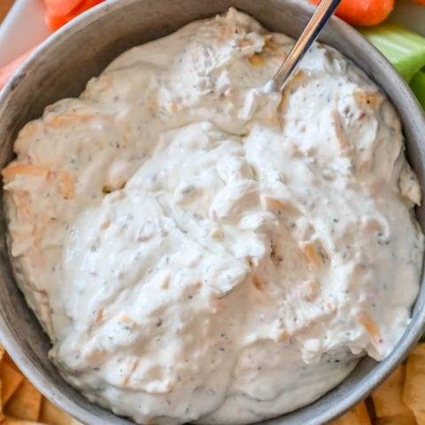 Easy Keto Bacon Cheddar Ranch Dip Recipe
