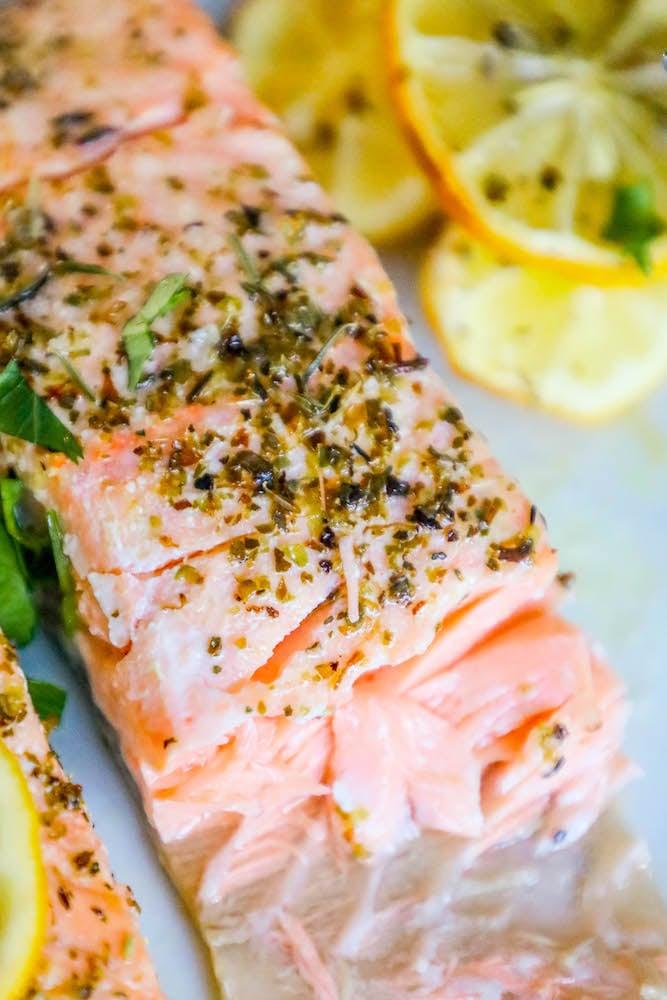 Easy Air Fryer Lemon Garlic Salmon Recipe - Sweet Cs Designs