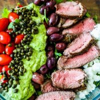 Creamy Avocado Steak Salad