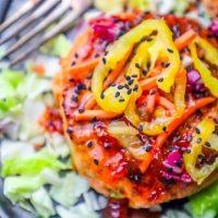 Sweet Chili Asian Salmon Burgers Recipe