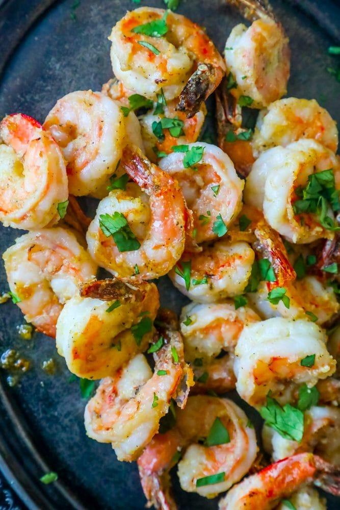 Garlic Parmesan Air Fried Shrimp Recipe Sweet Cs Designs
