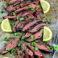 The Best Garlic Grilled Flank Steak Recipe