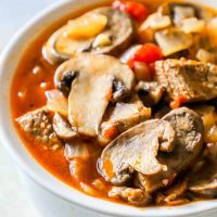 One Pot Keto Steak and Mushroom Soup Recipe