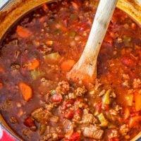 Keto Steak and Sausage Chili