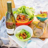 Shrimp and Snapper Fajita Lettuce Wraps