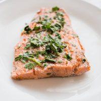 10 Minute Baked Cilantro Lime Salmon