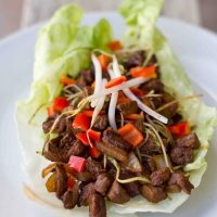 Steak & Sriracha Lettuce Wraps
