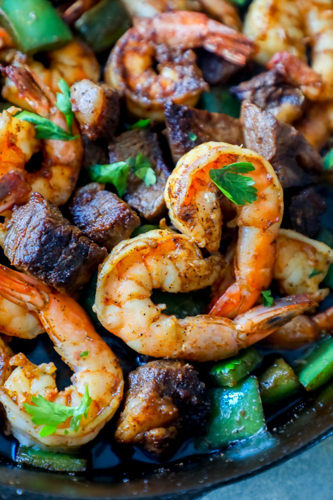 Cajun Butter Steak And Shrimp Skillet Recipe Sweet Cs