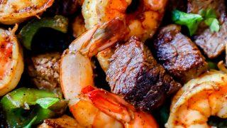 One Pot Cajun Butter Steak and Shrimp Skillet Recipe