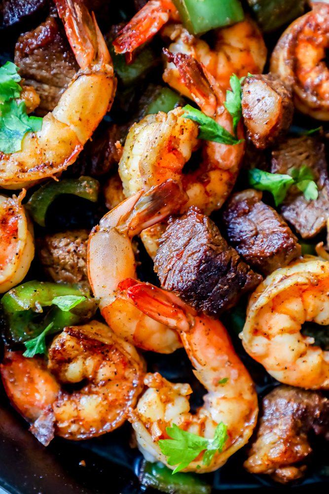 Cajun Butter Steak and Shrimp Skillet Recipe - Sweet Cs Designs
