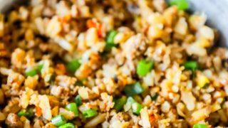 Easy Keto Turkey Fried Rice Recipe