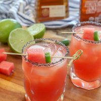 Sandia en Fuego (a.k.a. the best Watermelon Margaritas!)
