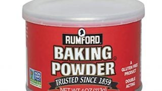 Rumford Baking Powder, NON-GMO, Gluten Free, Vegan, Vegetarian, Double Acting Baking Powder in a Resealable Can with Easy Measure Lid, Kosher, Halal
