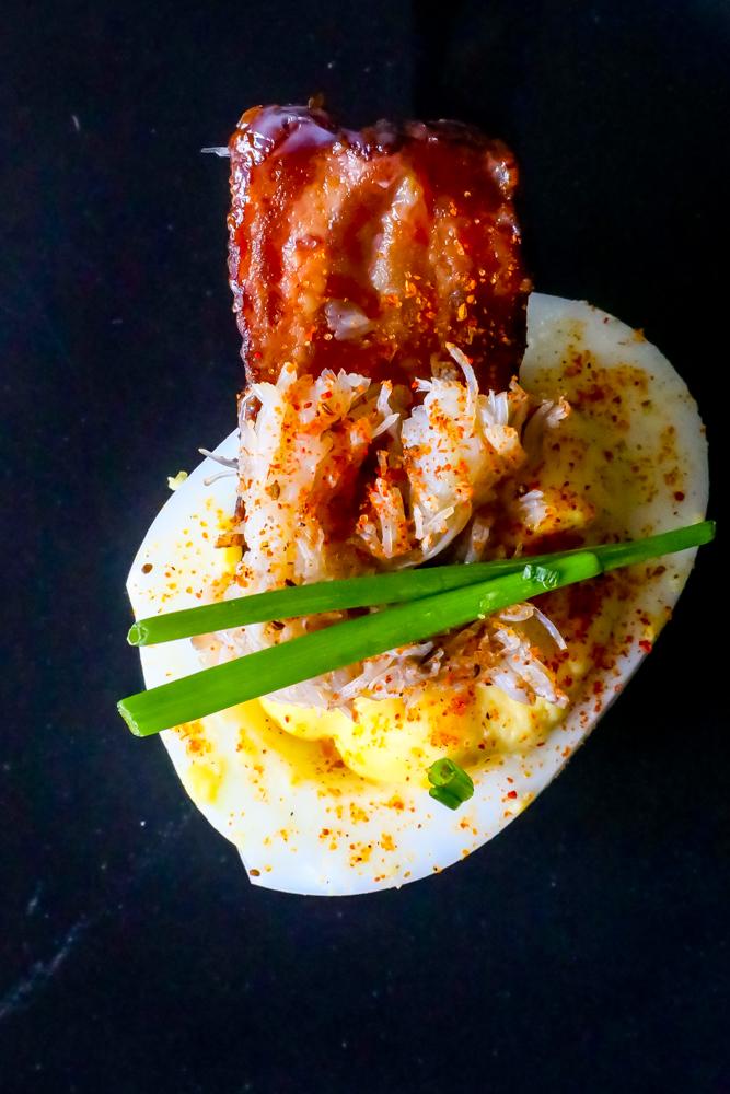 Bacon Crab Deviled Eggs Recipe