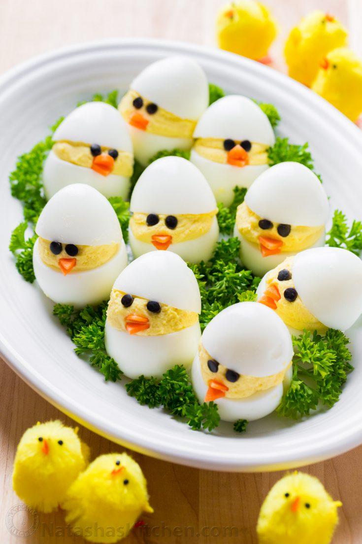Easter Egg Recipe - Deviled Egg Chicks