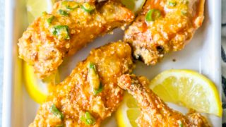 Lemon Garlic Parmesan Baked Chicken Wings Recipe