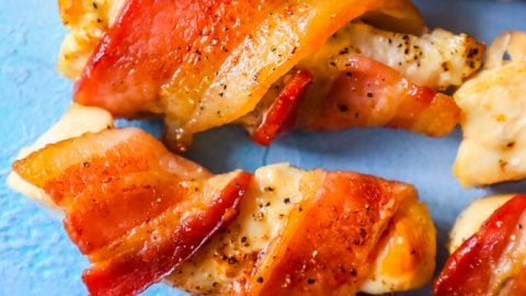 The Best Bacon Wrapped Chicken Bites