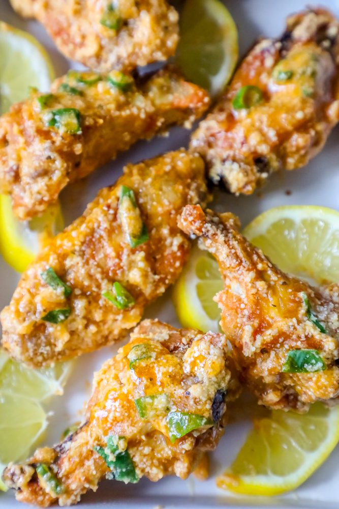 picture of baked chicken wings on a plate