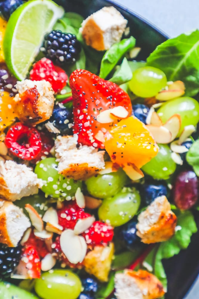 Chicken and Fruit Salad with Poppyseed Dressing Recipe