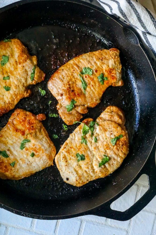 pork chops fried pan recipe easy drying keep