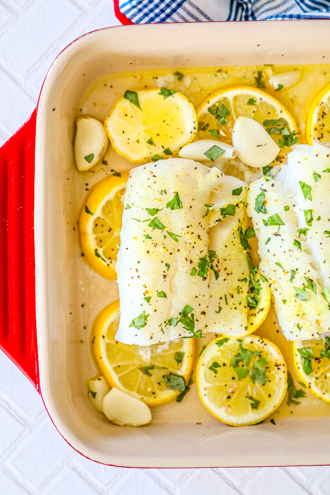 Baked Lemon Garlic Cod