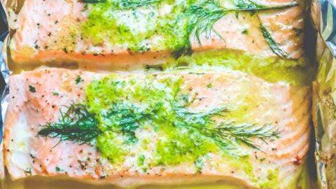 Easy Baked Salmon Milanese