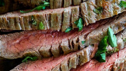 The Best Easy Oven Roasted Garlic Flank Steak Recipe