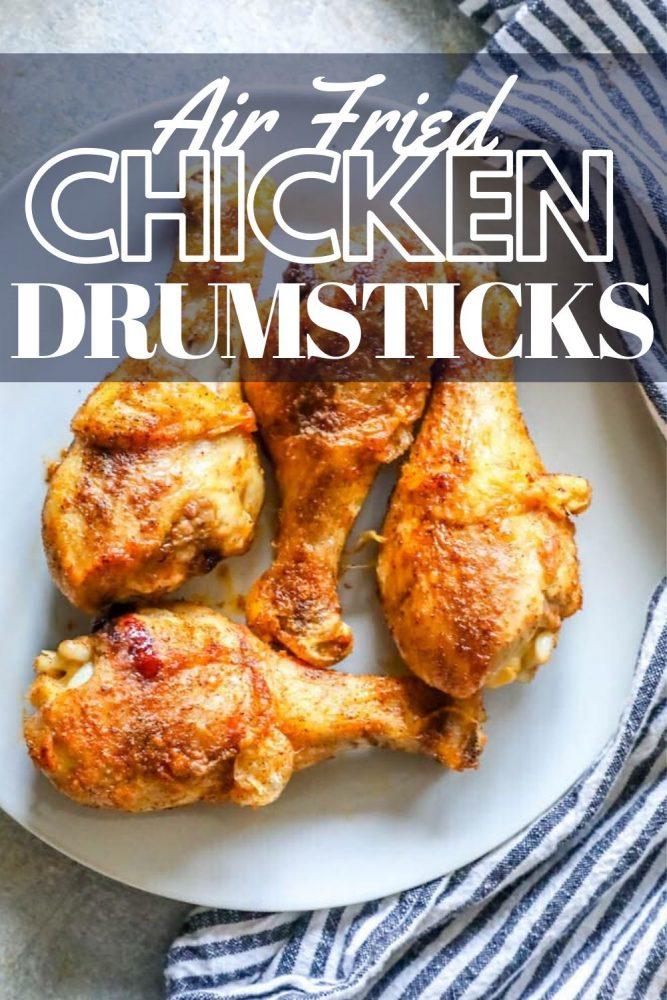 Crunchy chicken drumsticks on a plate.