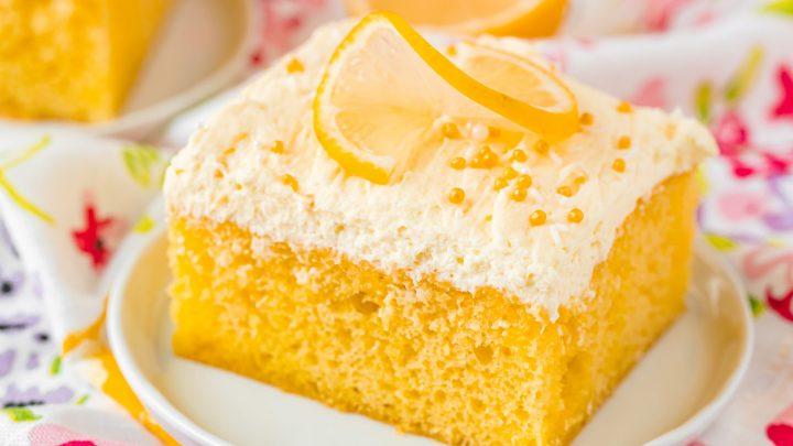 Easy Lemon Jello Poke Cake Recipe