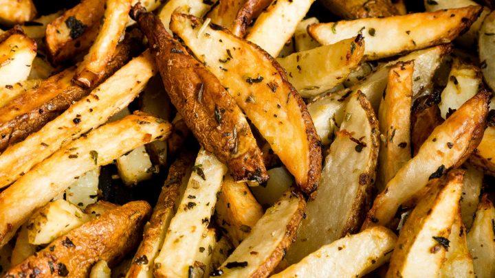 Lemon Garlic Air Fried French Fries