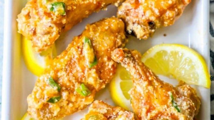 Lemon Garlic Parmesan Baked Chicken Wings Recipe