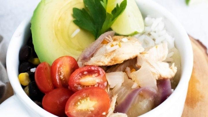 Instant Pot Chicken Fajita Bowls Recipe