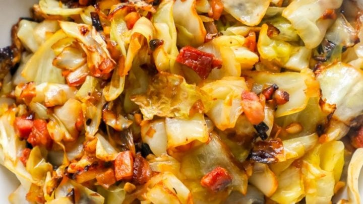 Pan Fried Cabbage with Bacon and Onions Recipe