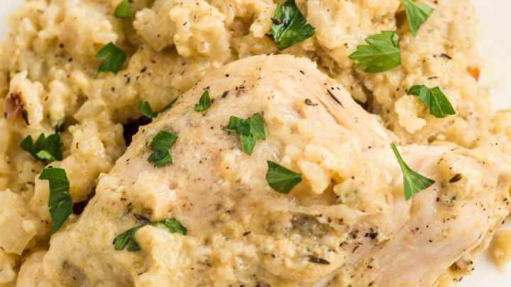 One Pot Baked Chicken and Rice Recipe