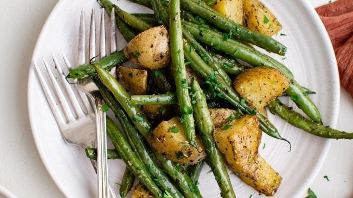 Herb Roasted Green Beans and Potatoes