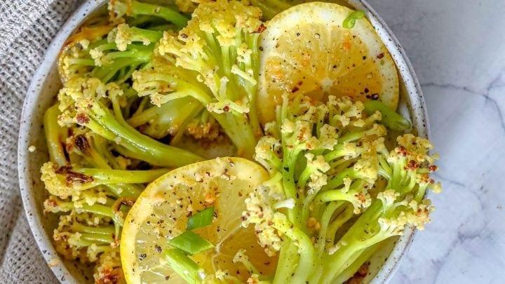 Garlic Lemon Baby Cauliflower Recipe
