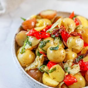 picture of potato salad recipe in a bowl
