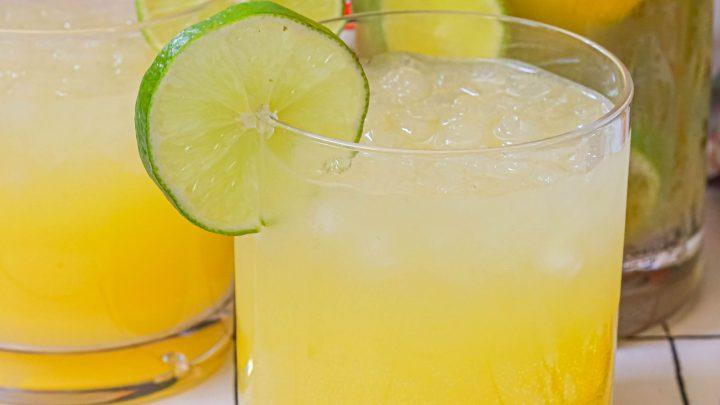 Sparkling Pineapple Lemon and Lime Soda Recipe