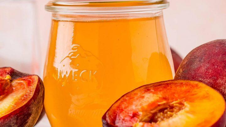 Easy Peach Simple Syrup Recipe