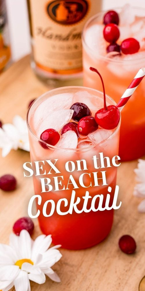 picture of sex on the beach drink in a glass