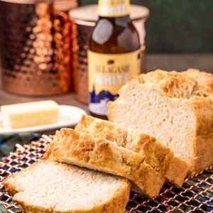 picture of beer bread on a cooling rack
