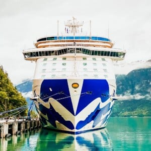 picture of majestic princess cruise ship in port in skagway alaska