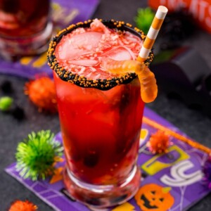 picture of halloween punch in a glass